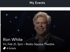 4 Tickets Ron White Friday 2/21 at Rialto Square Theater 7pm Show for Sale in Plainfield, IL