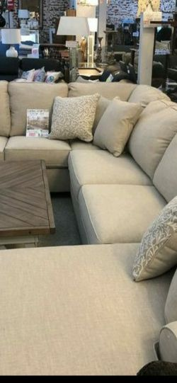 New Baranello Stone LAF Sectional Couch & living room set & sofa for Sale in Houston,  TX
