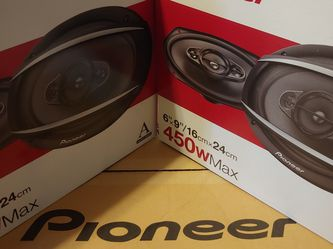 car speaker: 2 pair Pioneer 6×9 4 Way 450 watts Car Speakers for Sale in Commerce,  CA