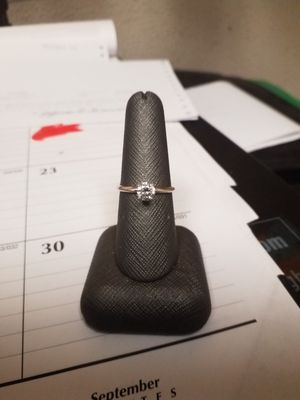 14KT White Gold Solitaire Diamond Ring Sz 8 for Sale in Denver, CO