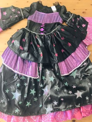 Girls Royal Witch Deluxe Halloween Costume Long Dress Size L 10/12 for Sale in Alexandria, VA