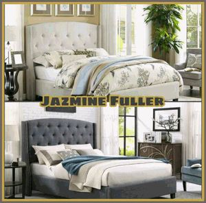 King size platform bed frame COLOR CHOICE for Sale in Glendale, AZ