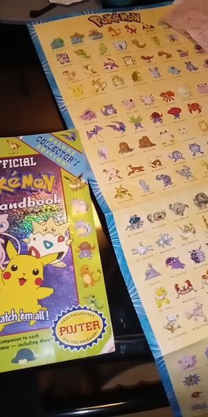 Pokemon offcl hndbook n poster for Sale in Cleveland, OH