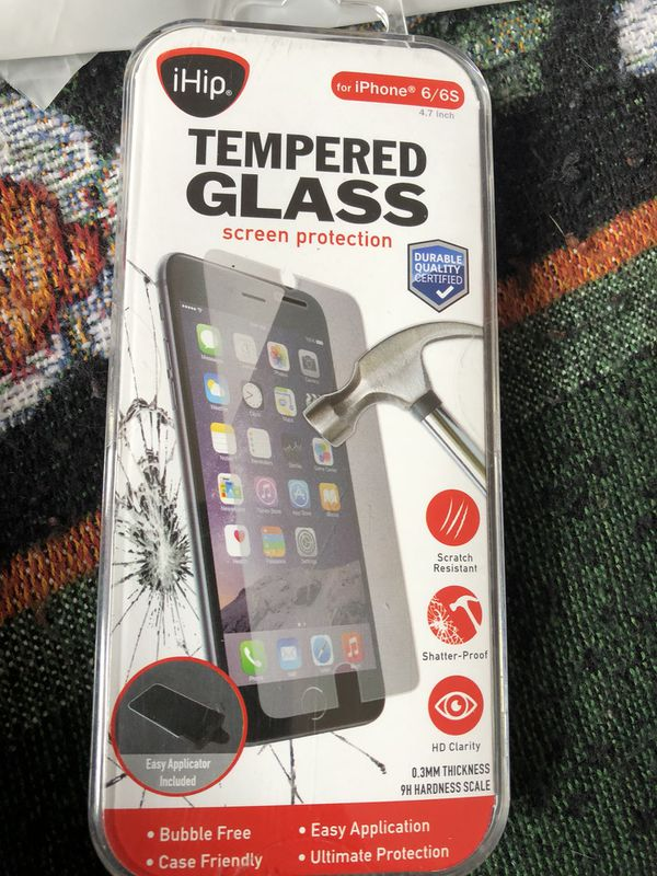 1 new tempered glass for Iphone 6/6s