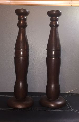 2 Tall candle 🕯 holders for Sale in Yorba Linda, CA
