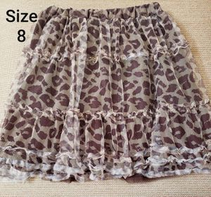 Size 8 CHILDRENS PLACE leopard skirt $2 for Sale in Santa Ana, CA