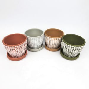 Set of 4 Terra Cotta Planting Pots for Sale in Brooklyn, NY