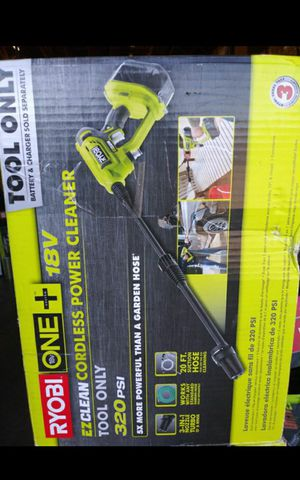 RYOBI 18V EZCLEAN CORDLESS POWER CLEANER BRAND NEW TOOL ONLY for Sale in Colton, CA