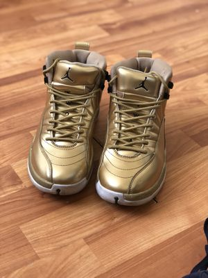 Air Jordan 12s Pinnacle GOLD 130690-103 SIZE 8M for Sale in Baltimore, MD