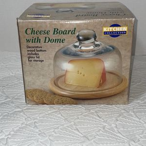 Kitchen Collection Cheese Board with Dome Taken out for pics only Box has normal shelf life wear! for Sale in Sparks, NV