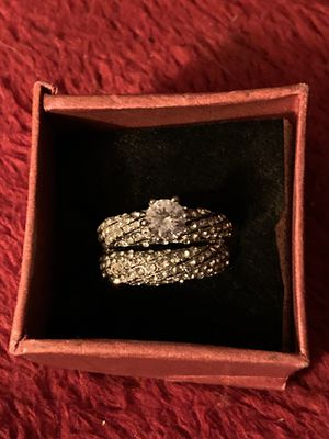 SILVER WEDDING RING SET for Sale in Montville, CT