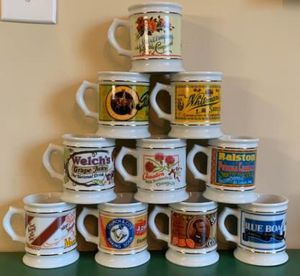 Franklin Porcelain Corner Store Mug Collection 18pc 1980's for Sale in Pompano Beach, FL