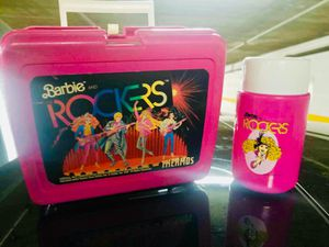 b856cdb1d88c 1987 Barbie and the Rockers lunch box and thermos for Sale in San Diego