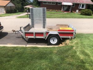 Aluminum 5x10 Trailer selling as is new brakes and plates for Sale in McKeesport, PA