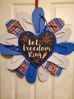 Americana flip flop Wreath's for Sale in Lancaster, OH