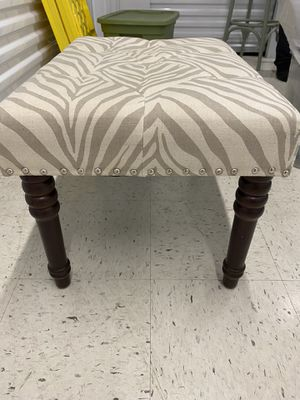 Animal Print Tufted Vanity Stool/ FootRest for Sale in Queens, NY