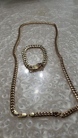 18 K Bracelet Yellow Hollow Cuban / 14 K Hollow Cuban Chain for Sale in Las Vegas, NV