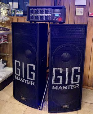 """FINANCING AVAILABLE Equipo profesional completo con cuatro 15"""" speaker // profesional audio set four for Sale in Houston, TX"""