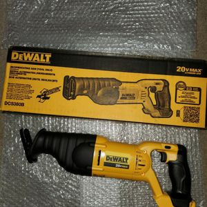 Brand new never used DEWALT 20-Volt MAX Lithium-Ion Cordless Reciprocating Saw (Tool-Only) $$ 85 firm for Sale in Bakersfield, CA