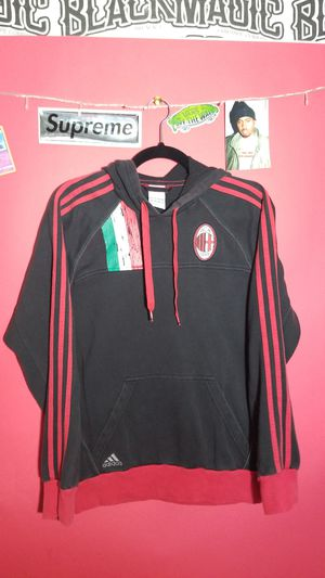 Adidas hoodie ac Milan vintage authentic Italian soccer for Sale in San Marcos, TX
