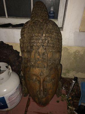Wooden Buddha head for Sale in Pompano Beach, FL