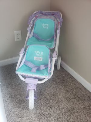 Bitty Baby American Doll Double Stroller for Sale in Cumming, GA