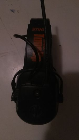 Stihl headphones like new FM AM radio auxiliary cord for phone works great for Sale in Paris, KY