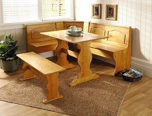 Breakfast Nook Bench Table Set Corner Booth Kitchen Dining Furniture Storage for Sale in Greenwich, CT