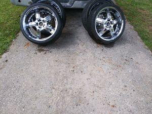 20 Inch Chrome Rims and Low Profile Tires for Sale in Atlanta, GA