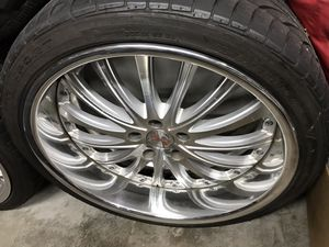 """20"""" Staggered Rims Wheels & Tires 5x114.3 for Sale in Queens, NY"""