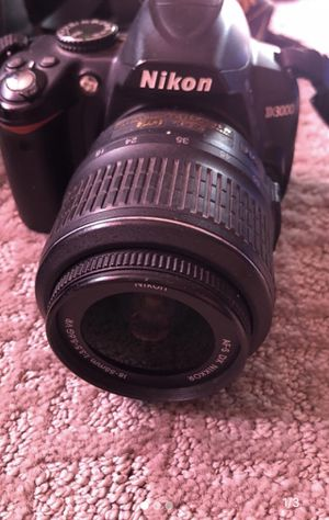 Nikon D3000 18-55mm Lense Camera (Missing Lense Cap) for Sale in Denver, CO