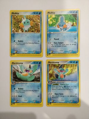 Mudkip & Marshtomp Mint Pokemon EX - R&S for Sale in Forest Heights, MD