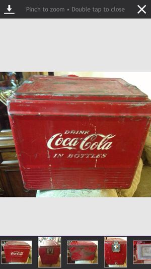 "ANTIQUE COCA COLA COOLER "" DRINK COCA COLA IN BOTTLES for Sale in Seattle, WA"