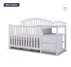 Sorelle Berkley 4-in-1 Convertible Crib and Changer in White with Beautyrest® BlackICE 2-Stage Crib and Toddler Mattress for Sale in Arlington Heights, IL