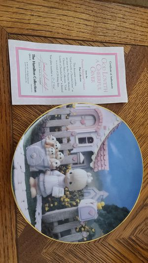 Precious Moment collectable plate 7 1/2x7 1/2 plate #0129V for Sale in Placentia, CA