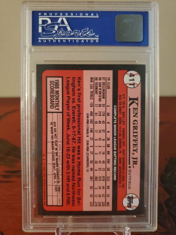1989 Topps PSA Ken Griffey Jr rookie card