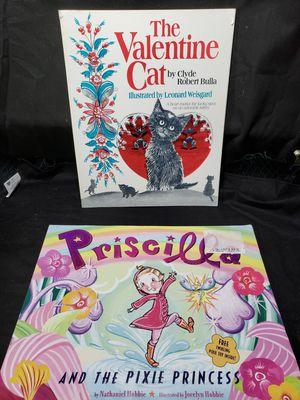 The Valentine cat & Priscilla and the pixie princess for Sale in Zanesville, OH
