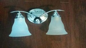 Progress Lighting Trinity 2-Light 8.125-in Brushed Nickel Bell Vanity Light for Sale in Gaithersburg, MD