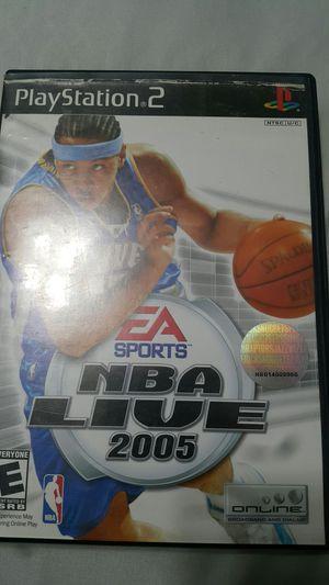 NBA LIVE 2005 FOR PS2 for Sale in Miami Gardens, FL