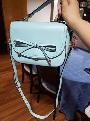 Cute Light Blue Bow Handbag with Detachable Messenger Strap & Multiple Pockets for Sale in Redmond, WA