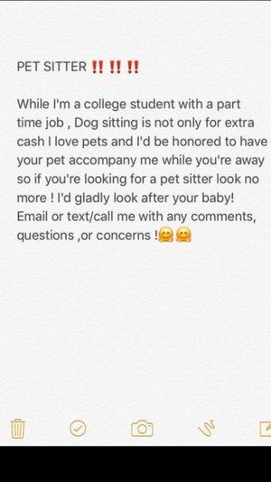 Pet sitter !! for Sale in Dallas, TX
