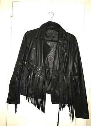 Leather fringe jacket for Sale in Philadelphia, PA