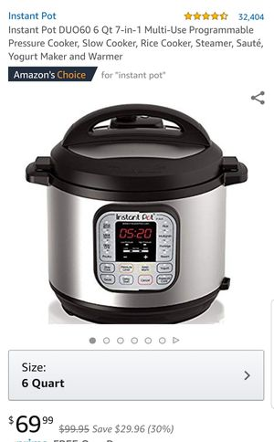 Instant pot 6qt Brand New for Sale in Walled Lake, MI