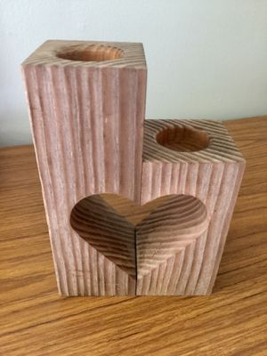 Hand made hart shaped barn wood candle holders for Sale in Grantsville, WV