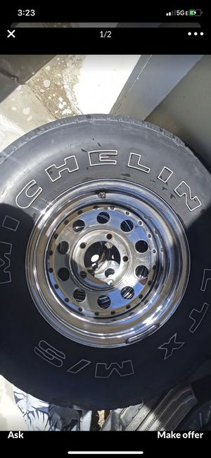 Rims and tires only 2 perfect for a trailer or spare tires for Sale in Covina, CA