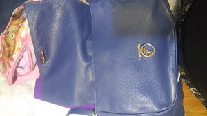 Gently used Versace big blue leather bag for Sale in Houston, TX