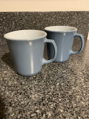 Pyrex vintage slate blue coffee cup with D handle for Sale in Tulalip, WA