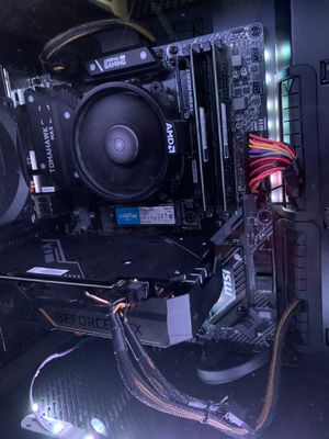 Gaming PC 1660 Super Ryzen 5 3600 w/ Good thermal Paste 144fps+ on any game for Sale in Baton Rouge, LA