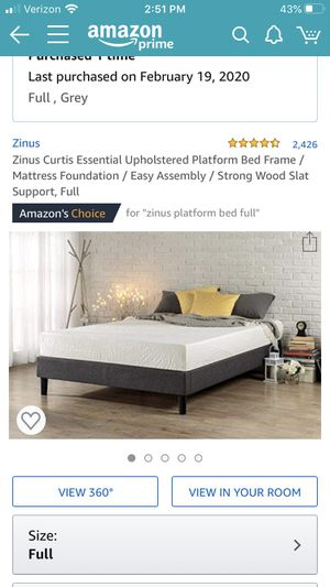 Full Size Platform Bed Frame for Sale in Tumwater, WA