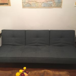 Mid-Century style slate blue sleeper couch/futon for Sale in Los Angeles, CA